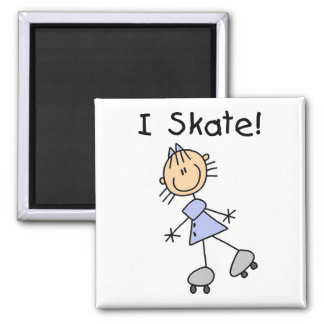 Stick Figure I Skate Tshirts and Gifts Square Magnet