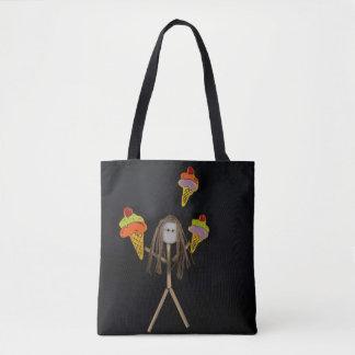 Stick Figure Ice Cream Tote Bag