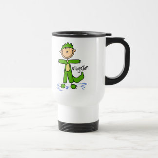 Stick Figure In Alligator Suit Mug