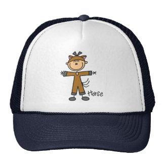 Stick Figure In Horse Suit Hat