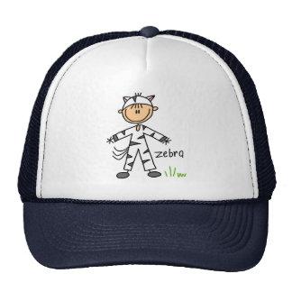 Stick Figure In Zebra Suit Hat