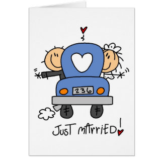 Stick Figure Just Married Card