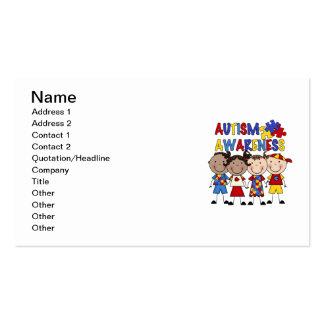 Stick Figure Kids Autism Awareness Business Card Templates