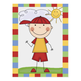 Stick Figure Kids Cards and Gifts Postcard