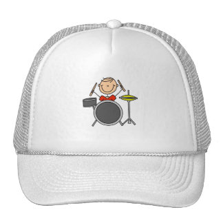 Stick Figure Male Drummer T-shirts and Gifts Trucker Hat