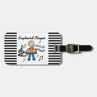 Stick Figure Male Keyboard Player Gifts Travel Bag Tag