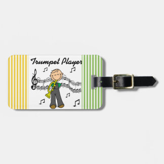 Stick Figure Male Trumpet Player T-shirts and GIft Luggage Tags