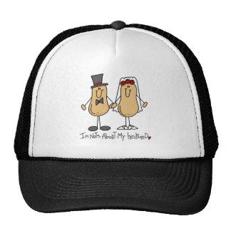 Stick Figure Nuts About My Husband Baseball Cap Mesh Hat
