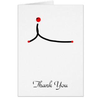 Stick figure of cobra yoga pose. note card