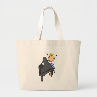 Stick Figure Piano Player Bag