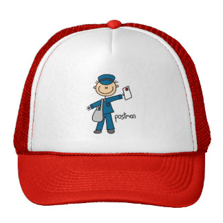 Stick Figure Postman Hat