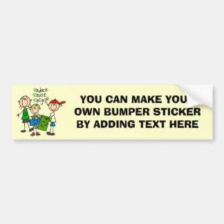 Stick Figure Reduce  Reuse Recycle T-shirts Bumper Sticker