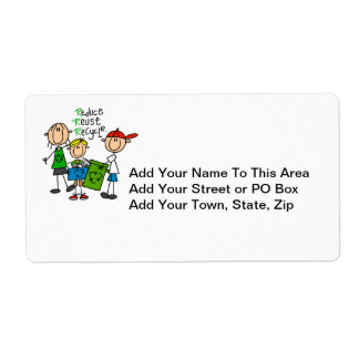 Stick Figure Reduce  Reuse Recycle T-shirts Shipping Label