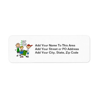 Stick Figure Reduce  Reuse Recycle T-shirts Return Address Label