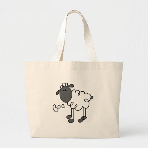 Stick Figure Sheep Canvas Bags