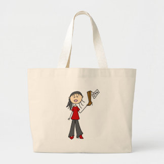 Stick Figure Shopping Bag