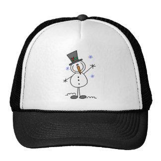Stick Figure Snowman Baseball Cap Mesh Hats