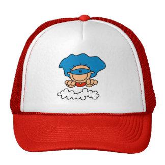 Stick Figure Super Hero Baseball Cap Mesh Hat