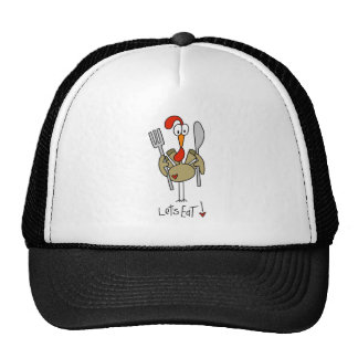 Stick Figure Turkey Baseball Cap Mesh Hats