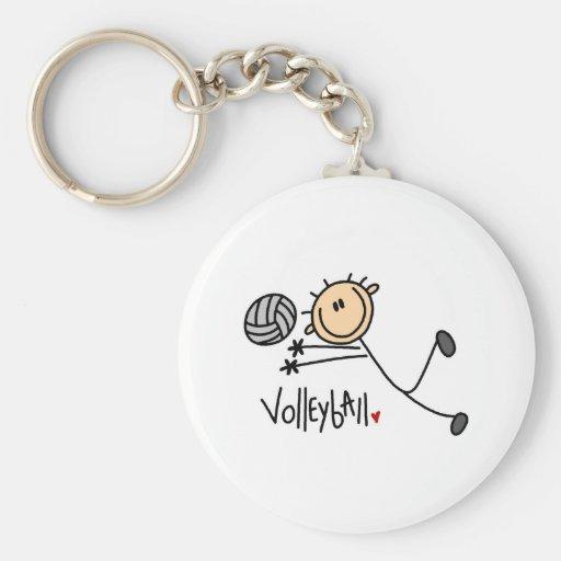 Stick Figure Volleyball Keychain
