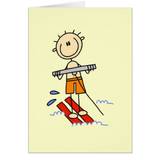 Stick Figure Water Skiing Tshirts and gifts Card