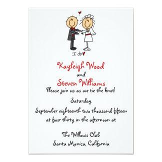 Stick Figure Wedding Invitation