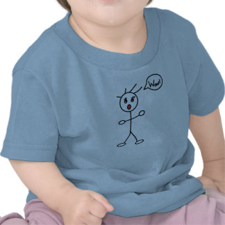 Stick Figure WoW Surprised Black and White Tee Shirts