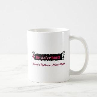 Stick Figures Resisterhood Womens Rights Coffee Mug