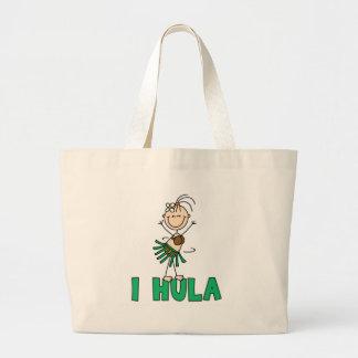 Stick Girl I Hula Jumbo Tote Bag
