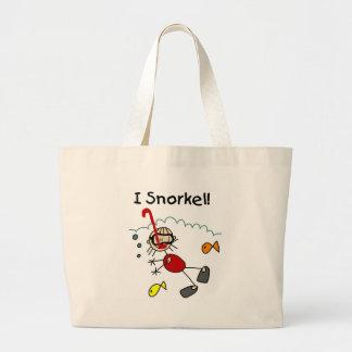 Stick Girl I Snorkel Tote Bags