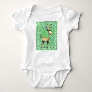Stick Holiday Deer Baby Bodysuit