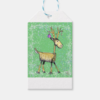 Stick Holiday Deer Gift Tags