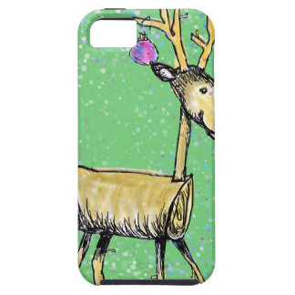 Stick Holiday Deer iPhone 5 Case