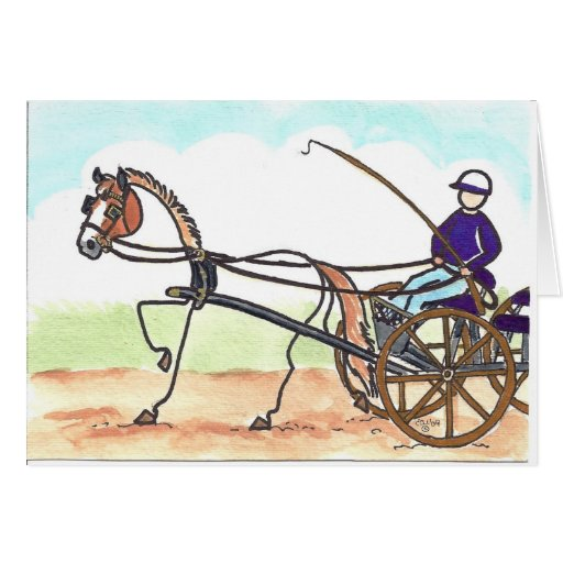 STICK HORSE Carriage Driving Card