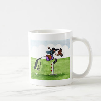 STICK HORSE Pony Showjumping Coffee Mug