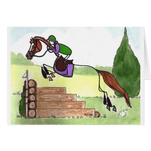 STICK HORSE XC Eventer Chestnut Cards