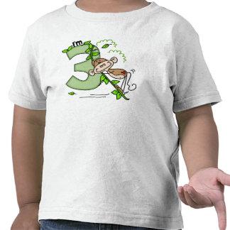 Stick Monkey Swing 3rd Birthday T Shirts