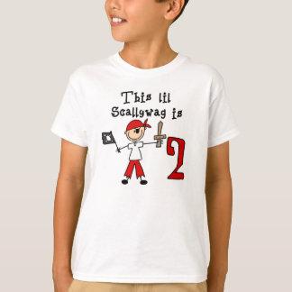 Stick Pirate 2nd Birthday T-Shirt