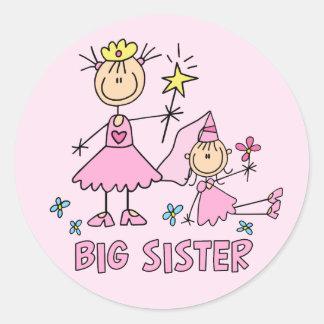 Stick Princess Duo Big Sister Classic Round Sticker