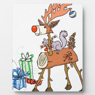 Stick reindeer plaque