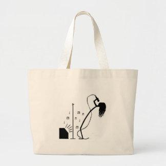 Stick Singer Large Tote Bag