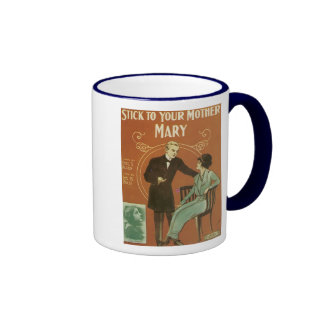 Stick To Your Mother, Mary Songbook Cover Ringer Mug
