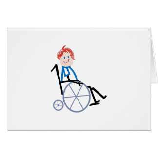 Stick Wheelchair Kid Card
