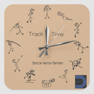 Stick With Sport Clock Sticker