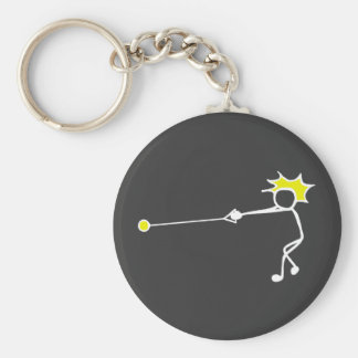 Stick-With-Sport Hammer Thrower Black Yellow Key Ring