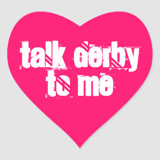 Sticker 20-Pack: Talk Derby to Me Heart