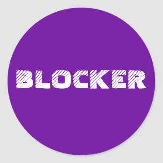 Sticker 6- or 20-Pack: Blocker