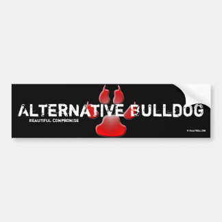 Sticker alternative Bulldog Bumper Sticker