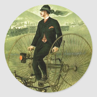 Sticker Antique Bicycle Tricycle advertising Bike