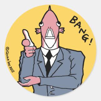 Sticker: BANG! Round Sticker
